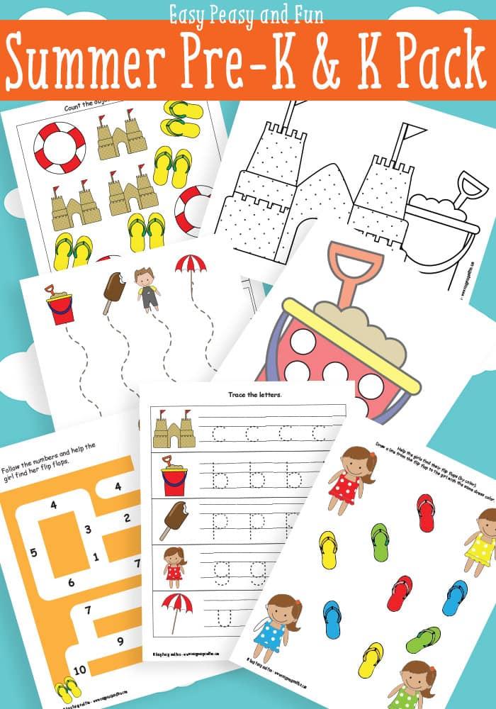 Free Summer Printables for-Preschool and Kindergarten