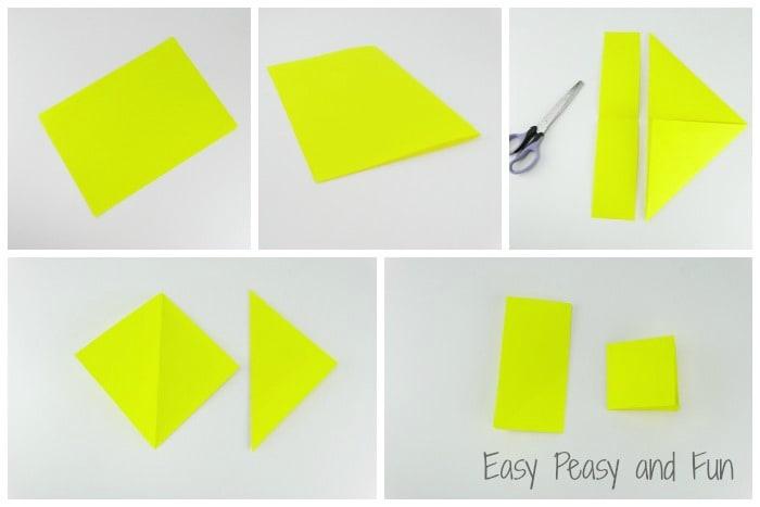 Origami Bookmark Folding