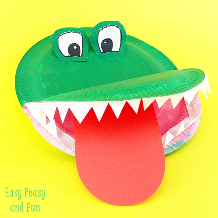 Paper Plate Crocodile Crafts