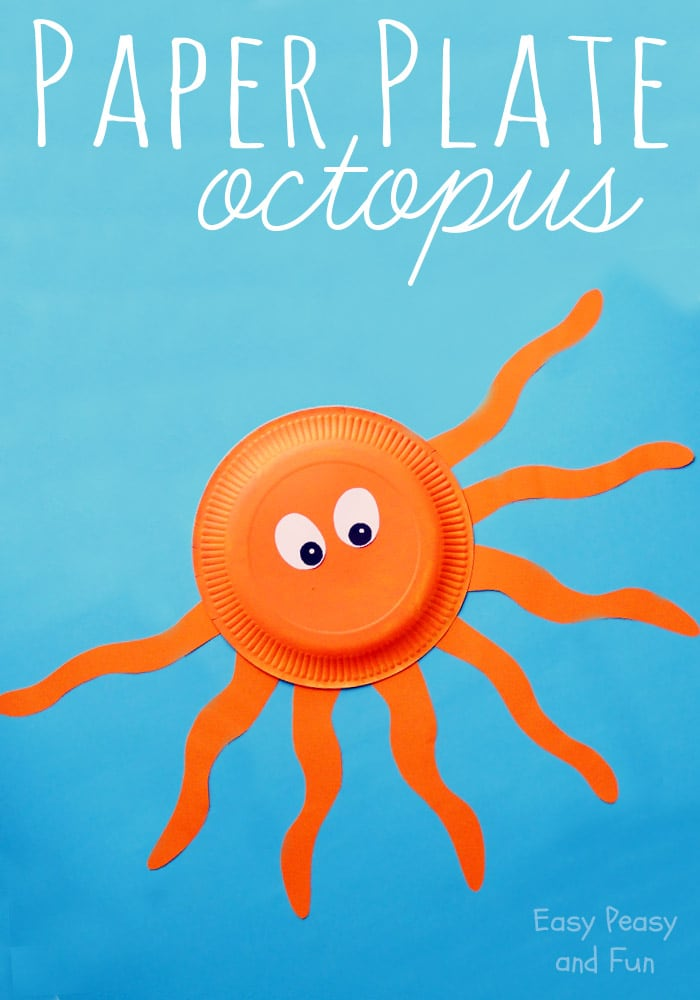 Octopus Paper Plate Craft Easy Peasy And Fun