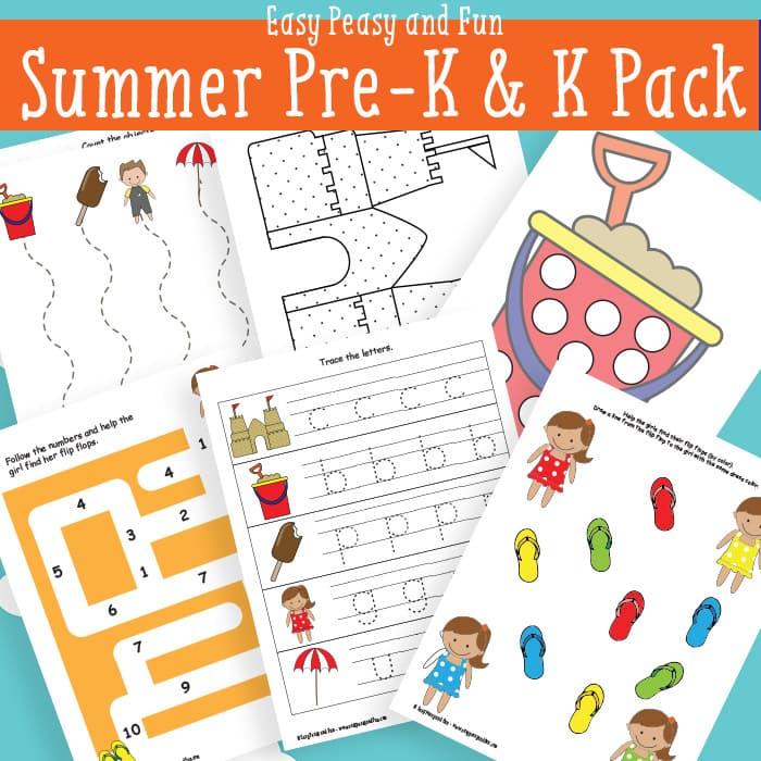 Free Worksheets free tracing numbers 1 10 worksheets : Summer Printables for Preschool - Easy Peasy and Fun
