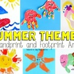 Summer Themed Handprint and Footprint Art