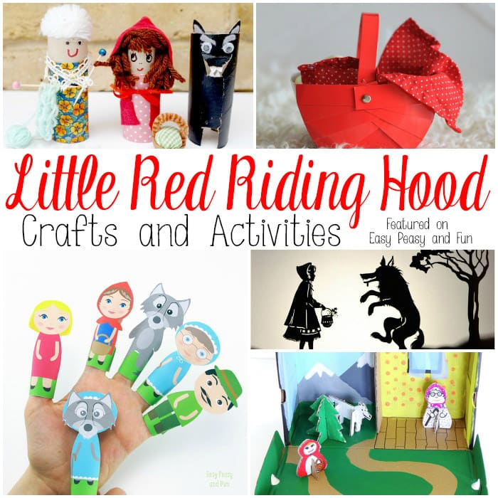 Little red riding hood crafts and activities easy peasy for Crafts for little kids