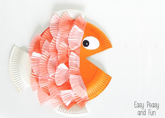 paper plate amp cupcake liner fish easy peasy and fun
