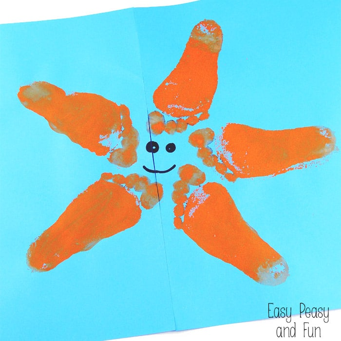 Starfish Art For Kids Footprint Easy Peasy And Fun