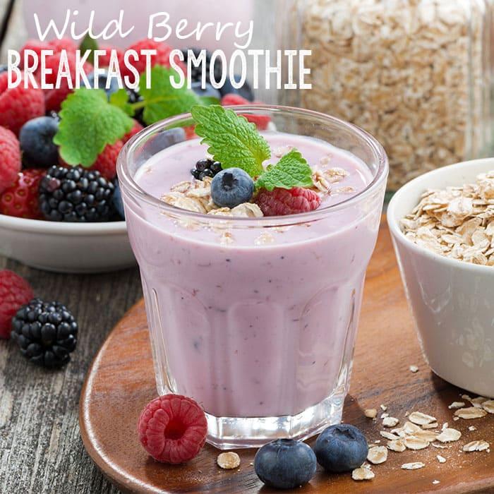 Wild Berry Breakfast Smoothie