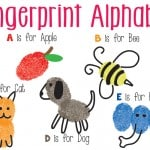 Fingerprint Alphabet Art