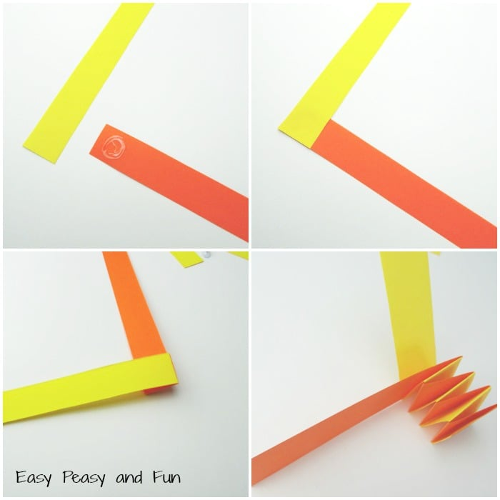 Accordion paper snake craft easy peasy and fun for Craft work with paper folding