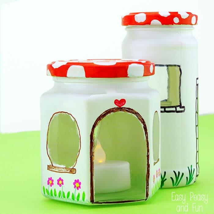 Mason Jar Crafts - Fairy House