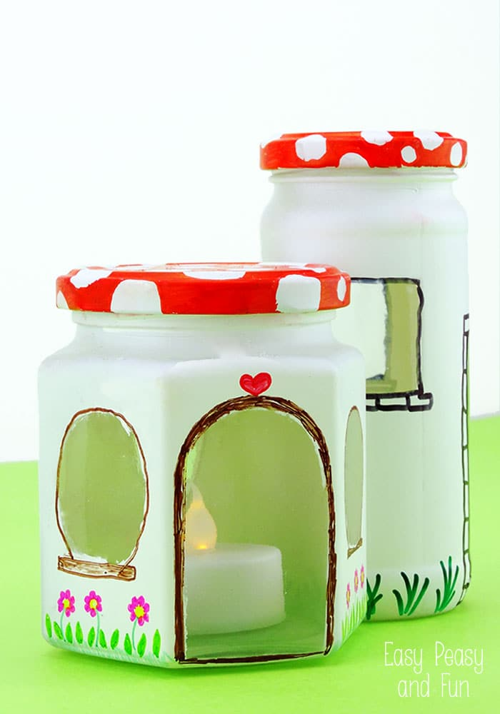 Mason Jar Fairy House Craft