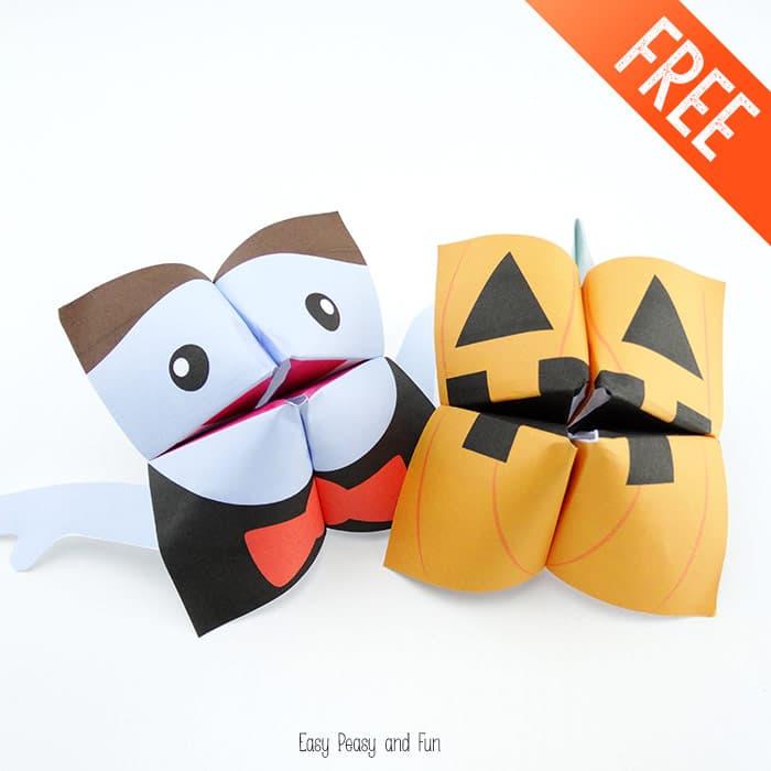 Vampire & Pumkin Halloween Cootie Catchers