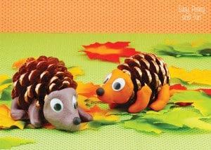 Pinecone Crafts - Hedgehog