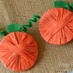 Raffia Wrapped Pumpkins {Pumpkin Crafts for Kids}