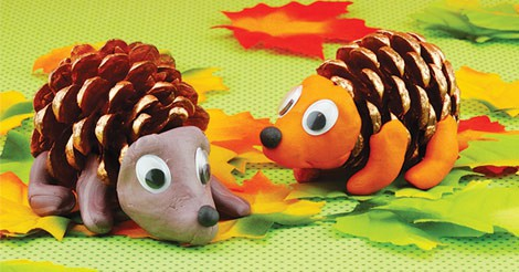 Pinecone Hedgehogs Easy Peasy And Fun