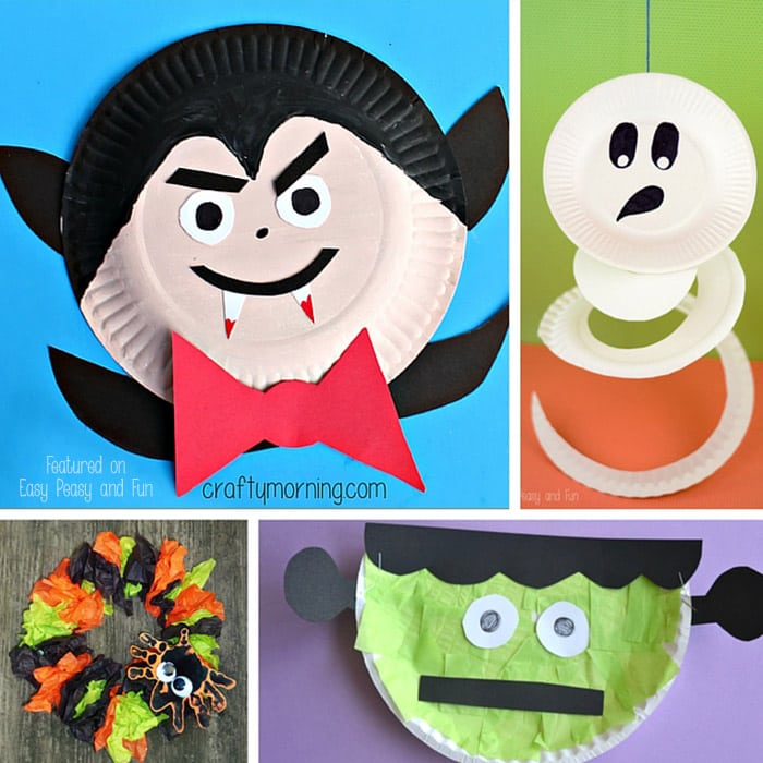 Halloween paper plate crafts for kids easy peasy and fun for Easy paper plate crafts