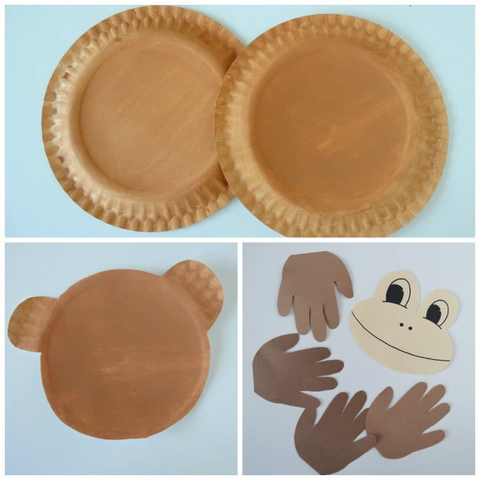 Making of Paper Plate Monkey