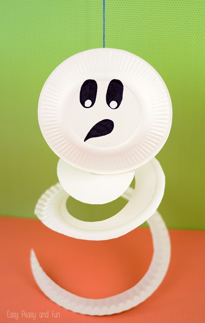 Paper Plate Ghost Paper Plate