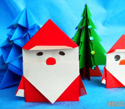 Origami Santa