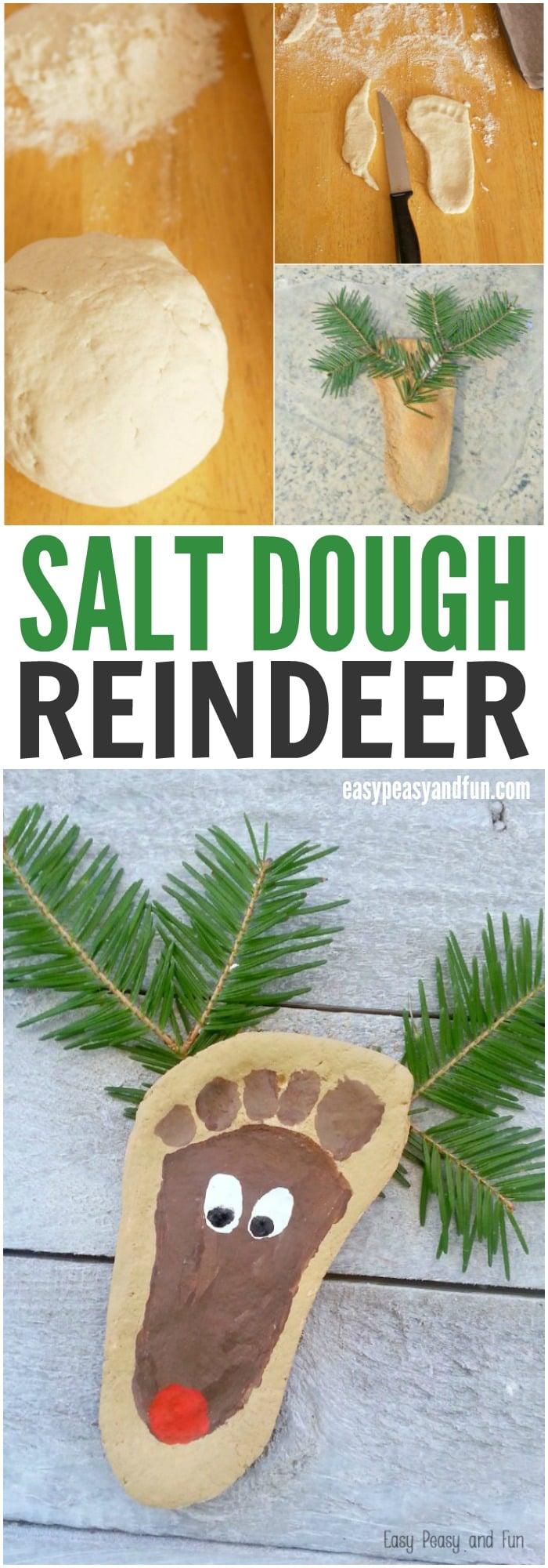 salt dough reindeer ornament
