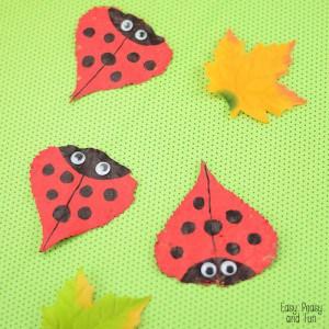 Leaf Ladybug Craft