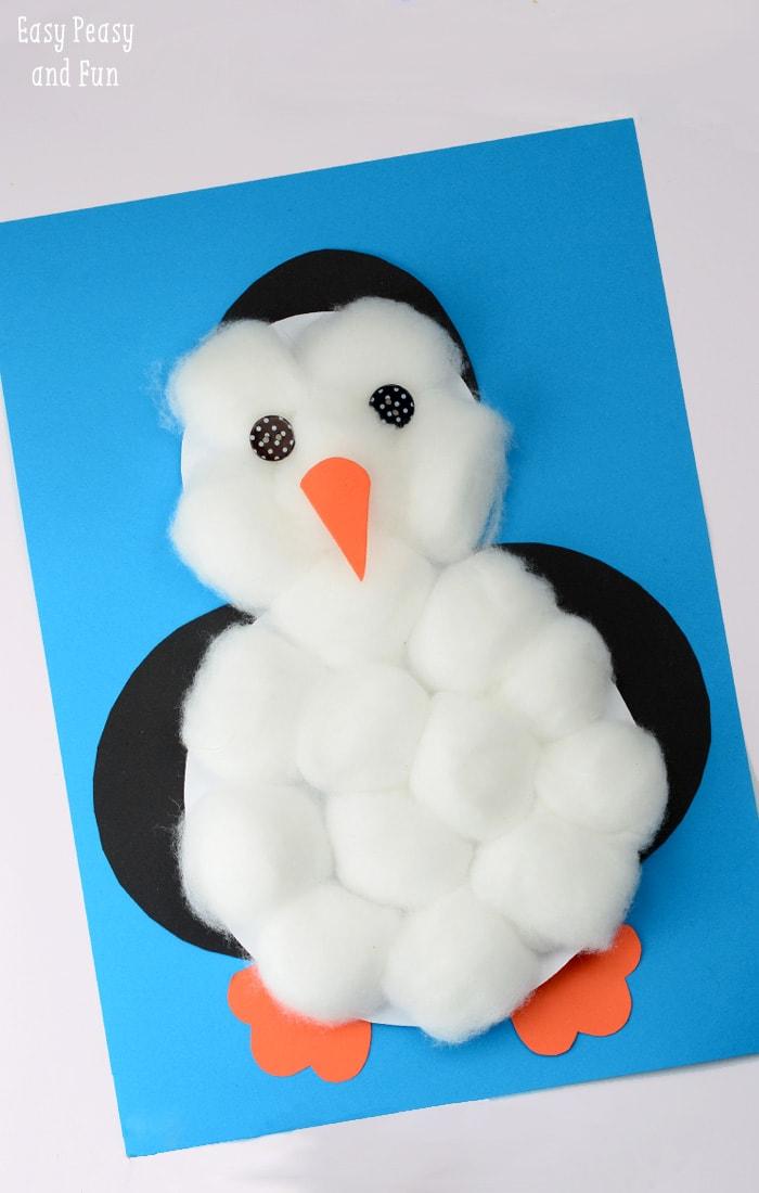 Cotton Ball Penguin Craft