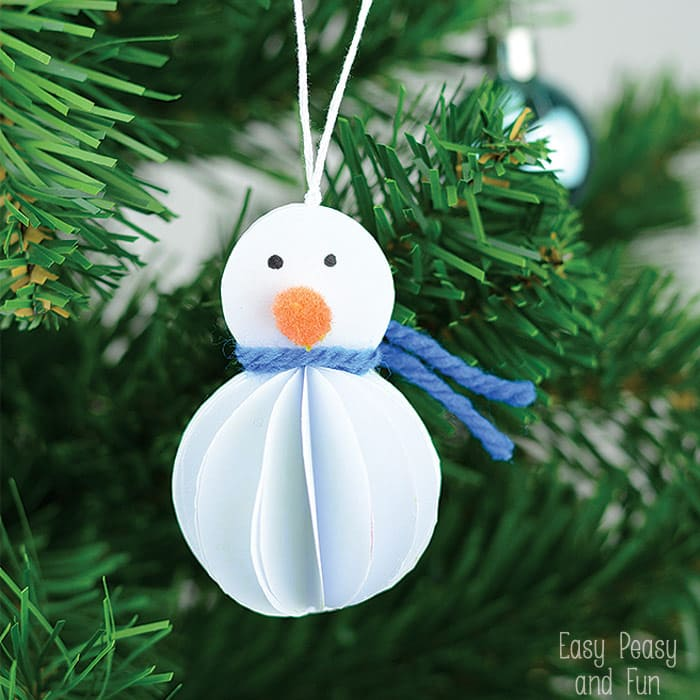 Simple Snowman Ornament - Kid Made Christmas Ornament - Easy Peasy and ...