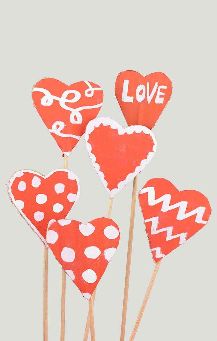 Cardboard Valentines Hearts Craft