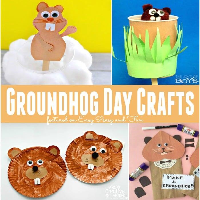 Easy Groundhog Day Crafts