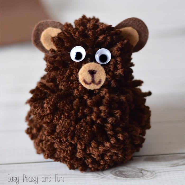 Bear Pom Pom Craft