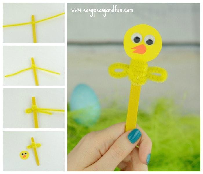 Little Chick Puppet Craft