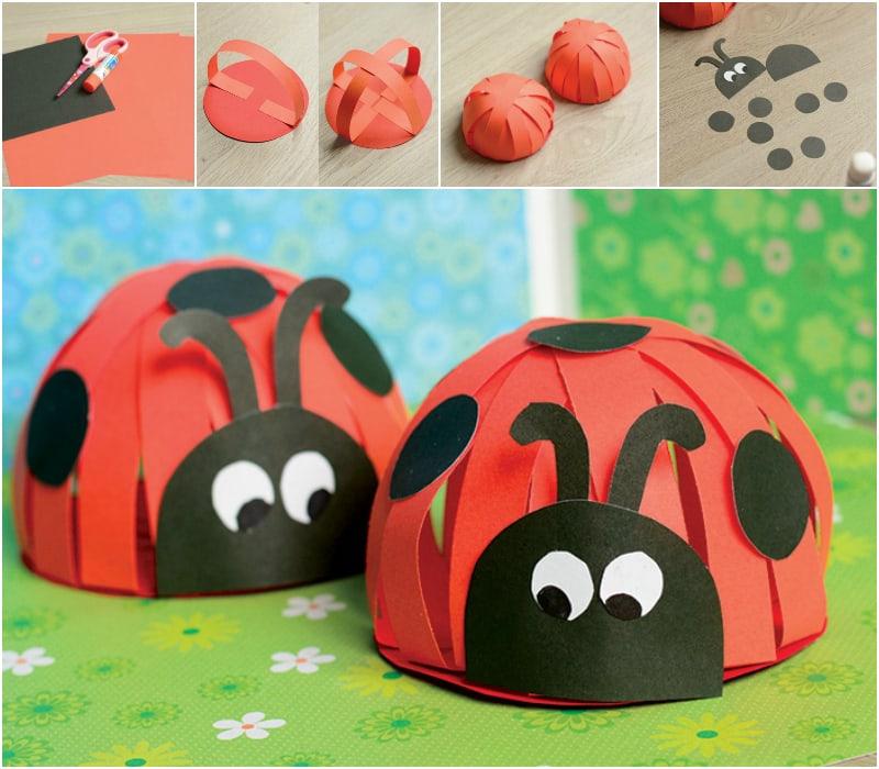 Paper Ladybug Collage