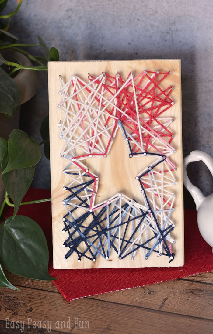 String Art Star Yarn Crafts For Kids Easy Peasy And Fun