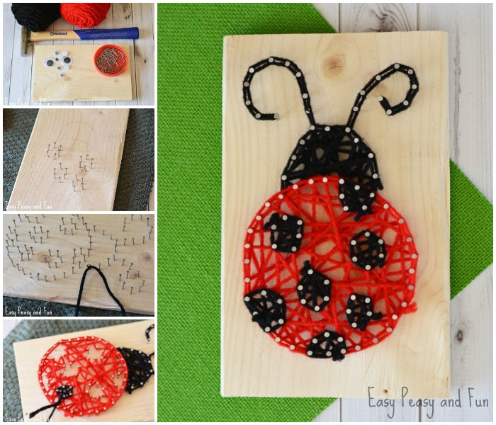 String artlady bug for kids