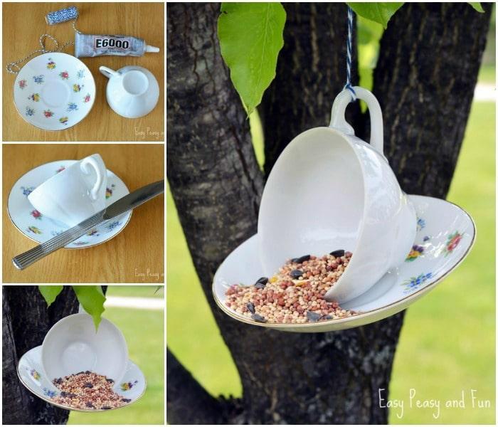 Teacup Birdfeeder Craft