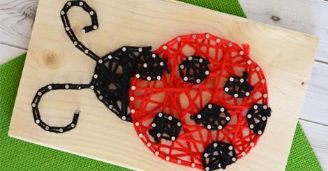 Ladybug String Art Easy Peasy And Fun