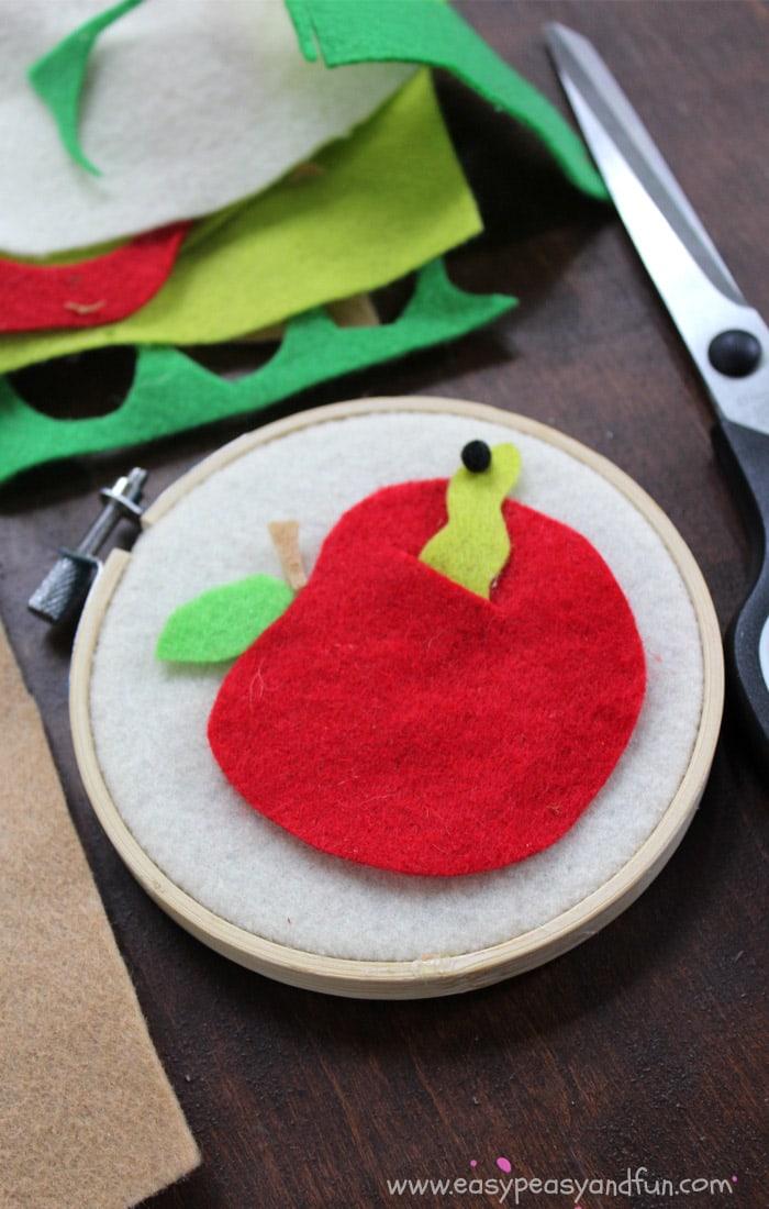 Felt Apple Craft Back To School Crafts For Kids Easy