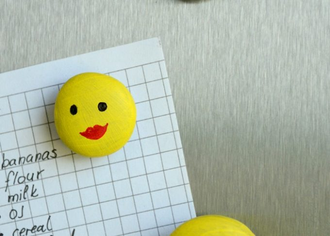 Smiley Face Fridge Magnets