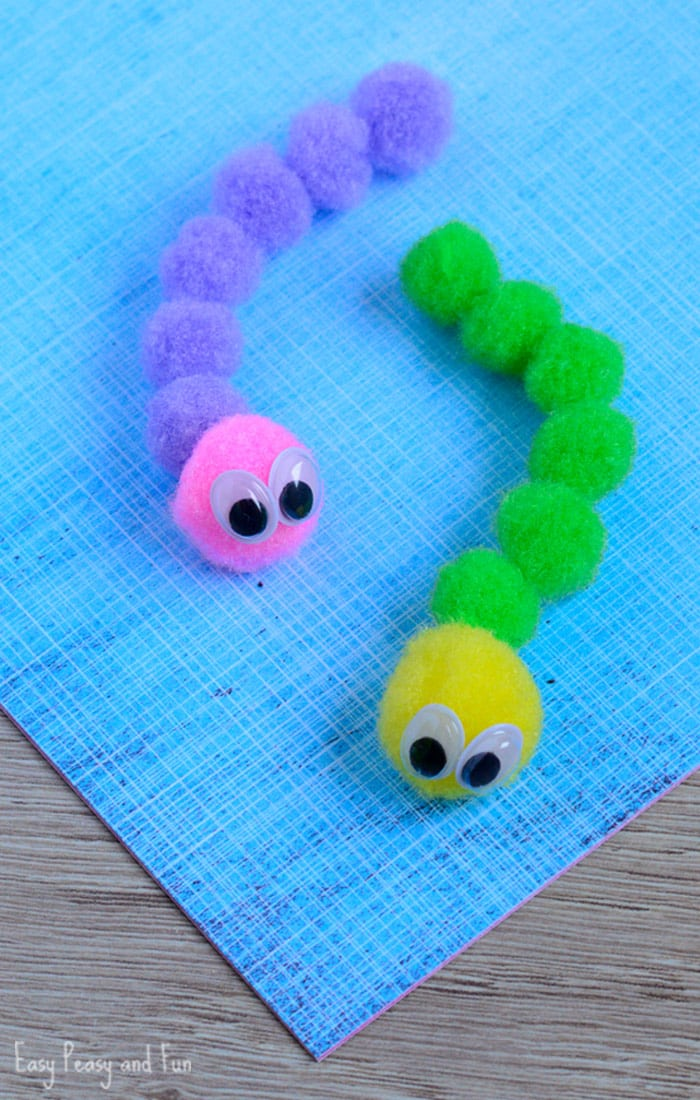Pom Pom Caterpillar Craft for Kids