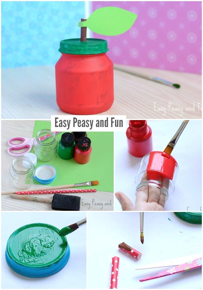 Adorable Apple Jar Craft for Kids
