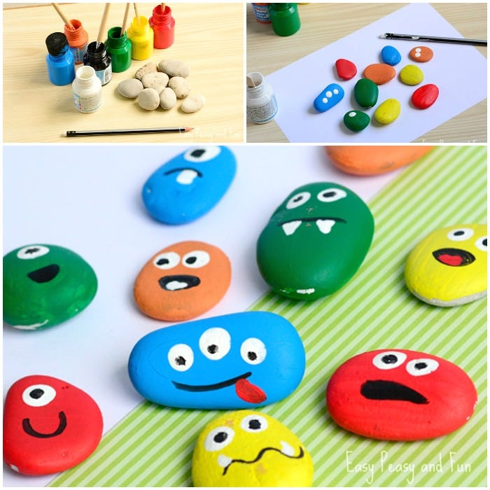 Adorable Rock Painting Craft for Kids