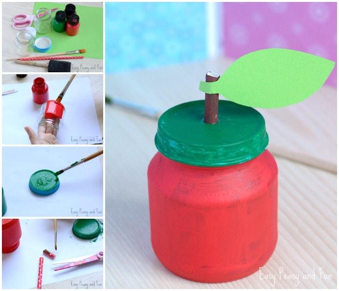 Cute Apple Jar Craft for Kids