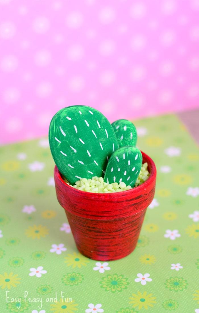 DIY Rock Cactus Craft