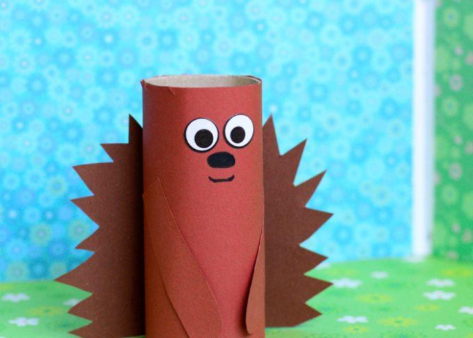 Paper Roll Hedgehog Craft for Kids