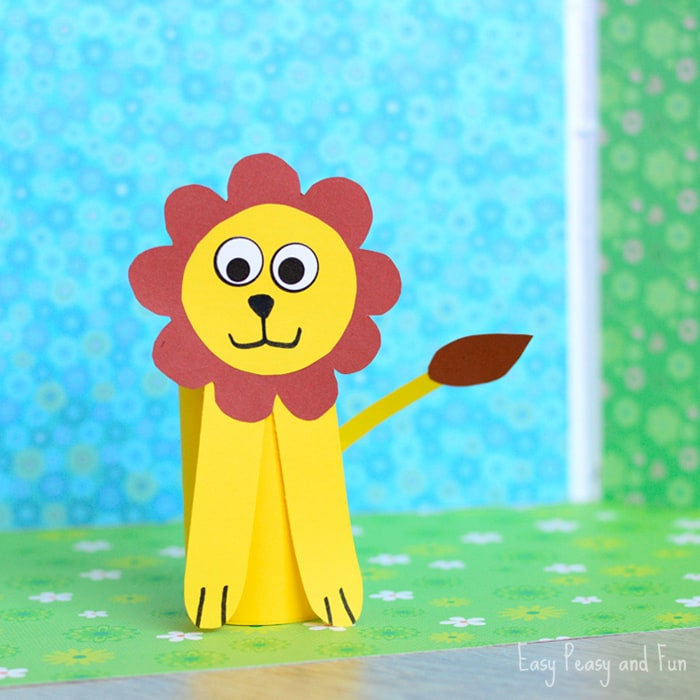 Paper Roll Lion Craft - Toilet Paper Roll Crafts - Easy ...