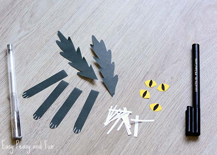 paper roll black cat craft easy peasy and fun. Black Bedroom Furniture Sets. Home Design Ideas