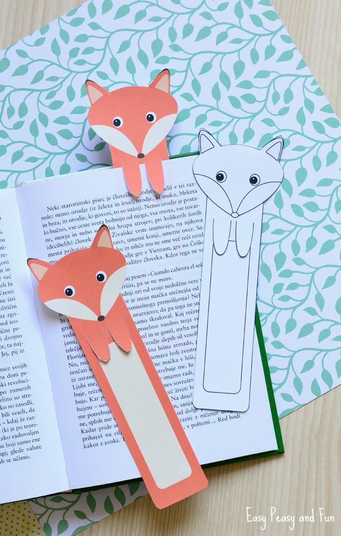 Printable Fox Bookmarks