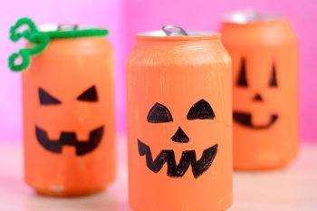 Tin Can Pumpkin Craft – Halloween Crafts for Kids