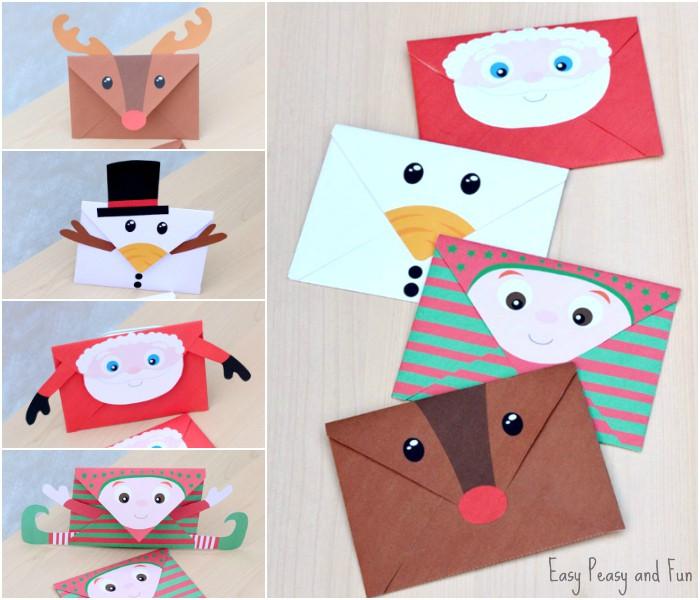 Printable Christmas Envelopes - Easy Peasy and Fun