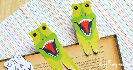 Printable Dinosaur Bookmarks Easy Peasy And Fun