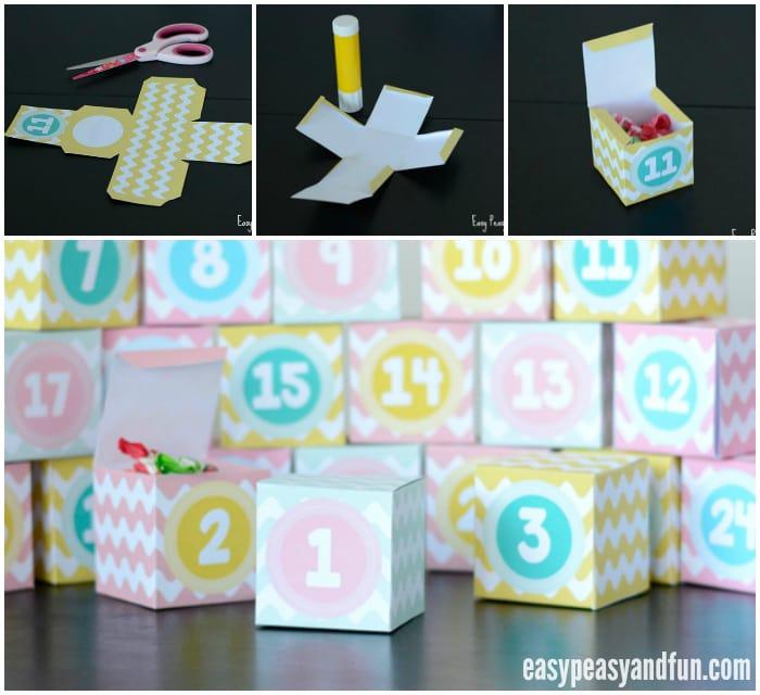 Cute Printable Advent Calendar Boxes